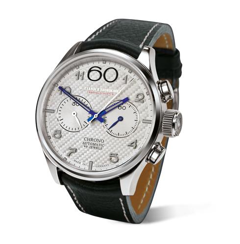 weiße kunstvolle automatik chronograph deutsche luxusuhr alexander shorokhoff uhren